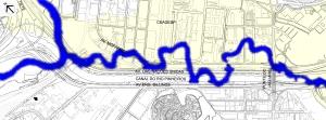 Fonte:  Mapa Digital da Cidade (PMSP, 2012) Carta Geotécnica do Município de São Paulo (PMSP-IPT, 1992) Planta da Light do antigo leito do Rio Pinheiros (SEABRA, 1987)